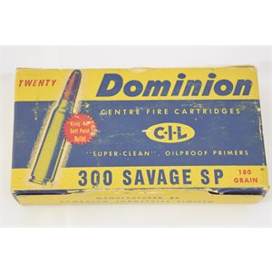 DOMINION C-I-L 300 SAVAGE 180 GRAIN FULL BOX
