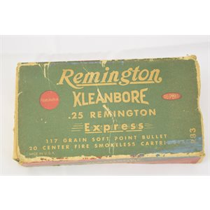 REMINGTON KLEANBORE .25 REMINGTON EXPRESS 117 GR  15 ROUNDS