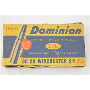 DOMINION C-I-L 30-30 170 GR 12 ROUNDS