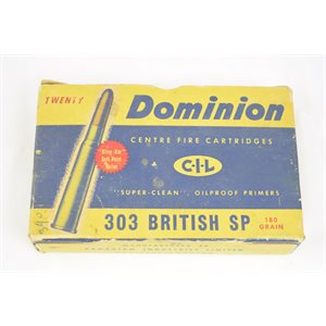 DOMINION  C-I-L 303 BRITISH SP  17 ROUNDS